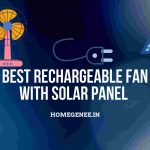 Best Rechargeable fan with solar panel India 2021-compressed